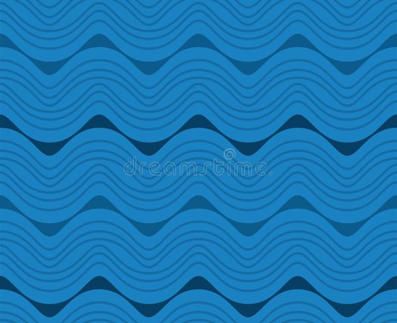 Terza linea porpora blu modello senza cuciture verticale di Walia Wave immagine stock