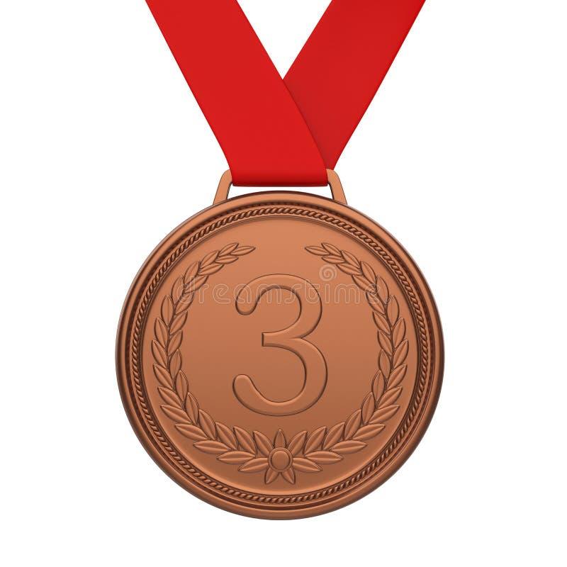 Terza Medaglia Di Bronzo Del Posto Isolata Illustrazione di Stock -  Illustrazione di rank, premio: 114538969