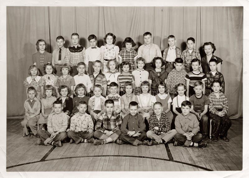 Terzi studenti del grado, c 1955 fotografia stock