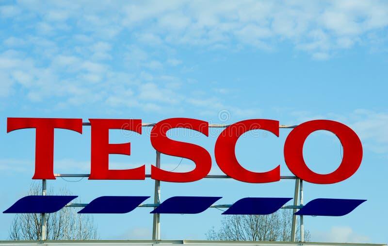 Tesco entreposé à Manchester, Oldham image stock