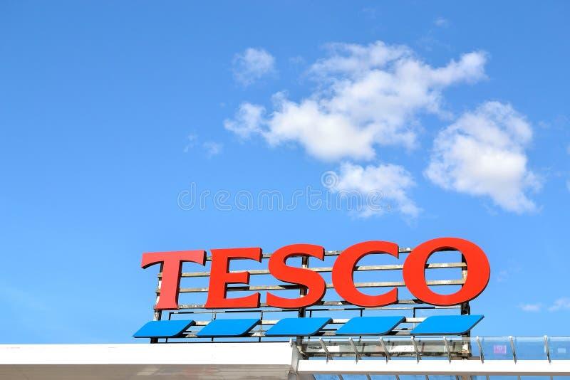 tesco Logosupermarkt stockfotografie