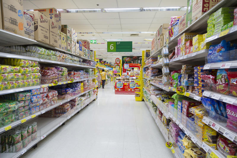 Tesco Lotus Supermarket lizenzfreie stockfotos