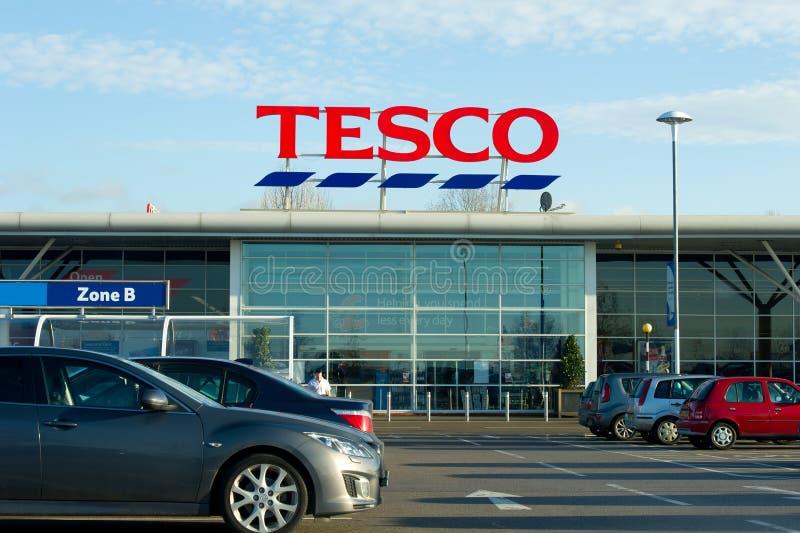 Tesco-Opslag in Manchester, Oldham stock afbeeldingen