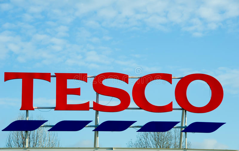 Tesco-Opslag in Manchester, Oldham stock afbeelding