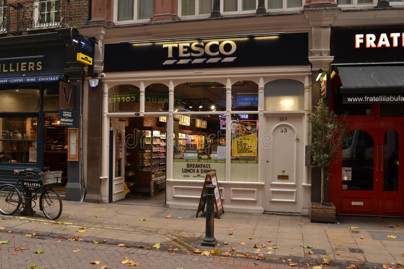 Tesco stockent Londres photos stock