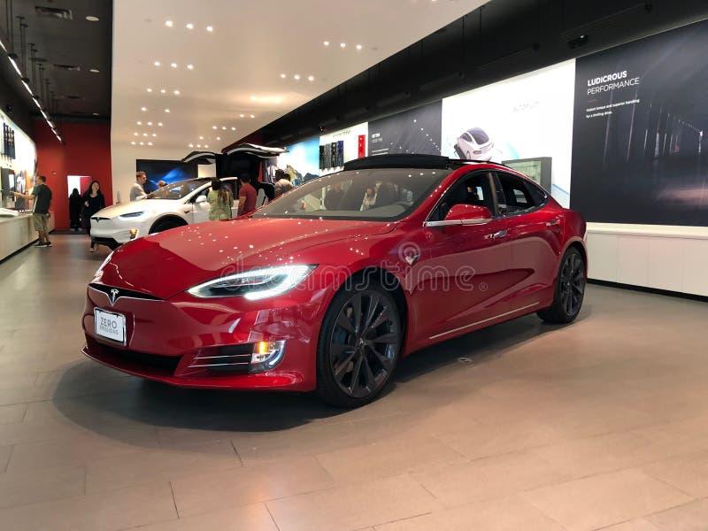Tesla-Ausstellungsraum lizenzfreie stockfotos