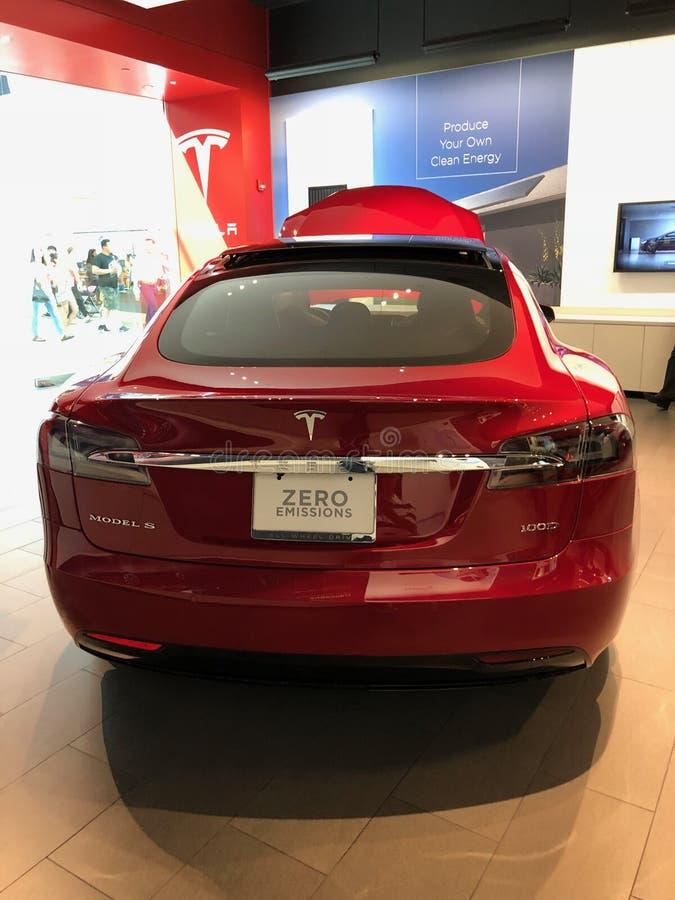 Tesla-Ausstellungsraum lizenzfreie stockfotografie