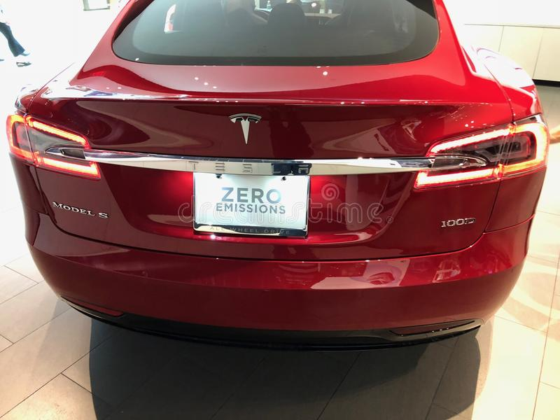 Tesla-Ausstellungsraum lizenzfreies stockbild