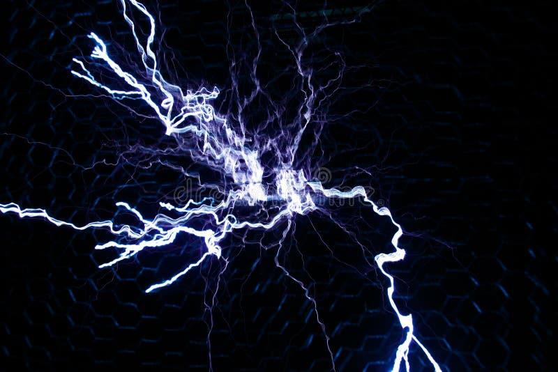 Tesla Coil Lightning stock images