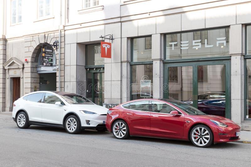 Tesla lager i Köpenhamn arkivfoton