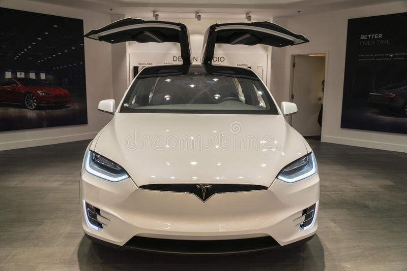 Tesla model X stock image