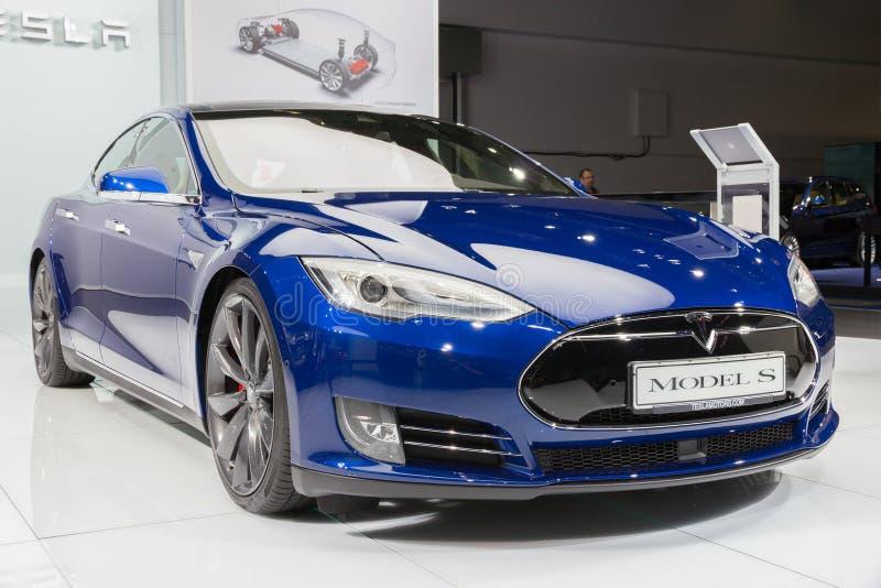 Tesla model S P90D stock photo