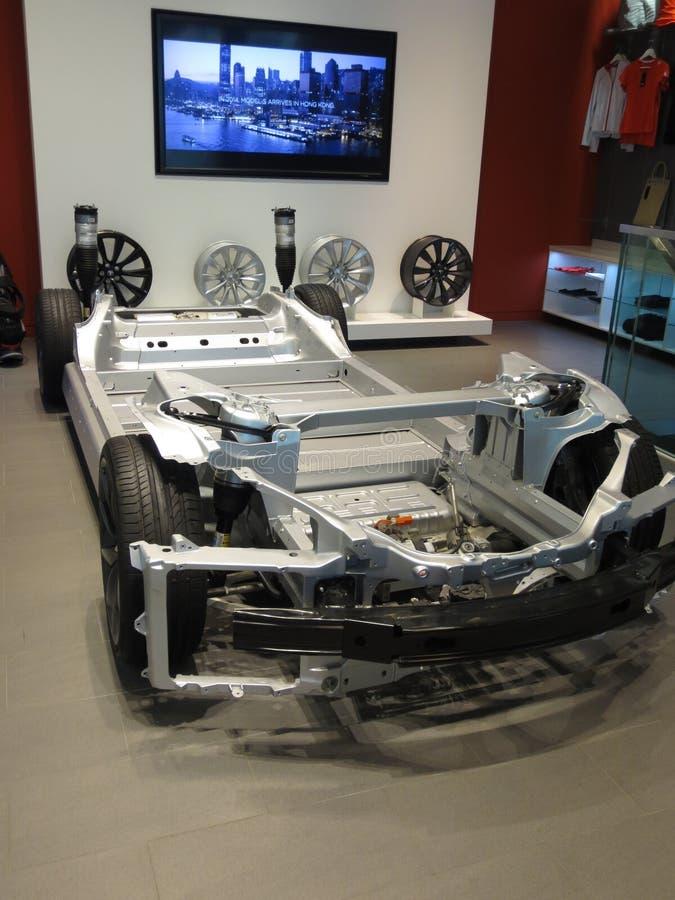 Tesla Models Ladende elektrische auto royalty-vrije stock afbeelding