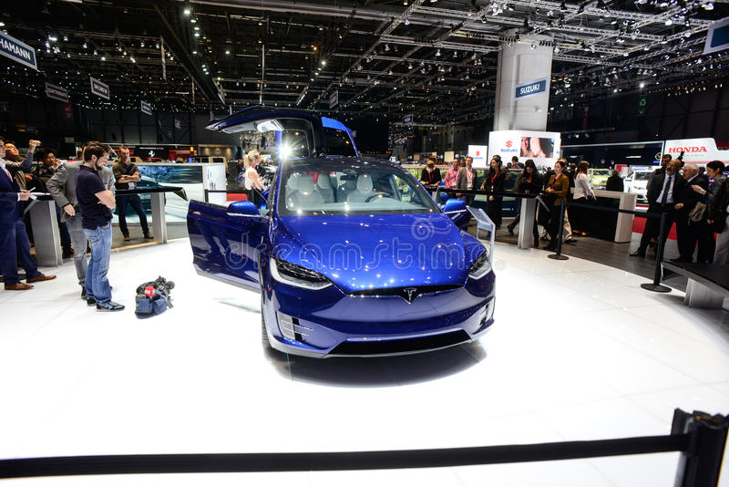 Tesla Modelx stock afbeeldingen