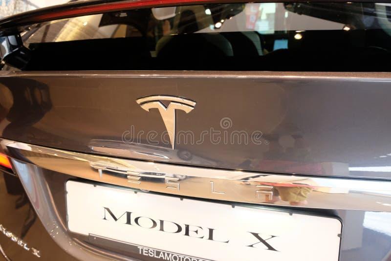 Tesla Modelx elektrische auto royalty-vrije stock foto's