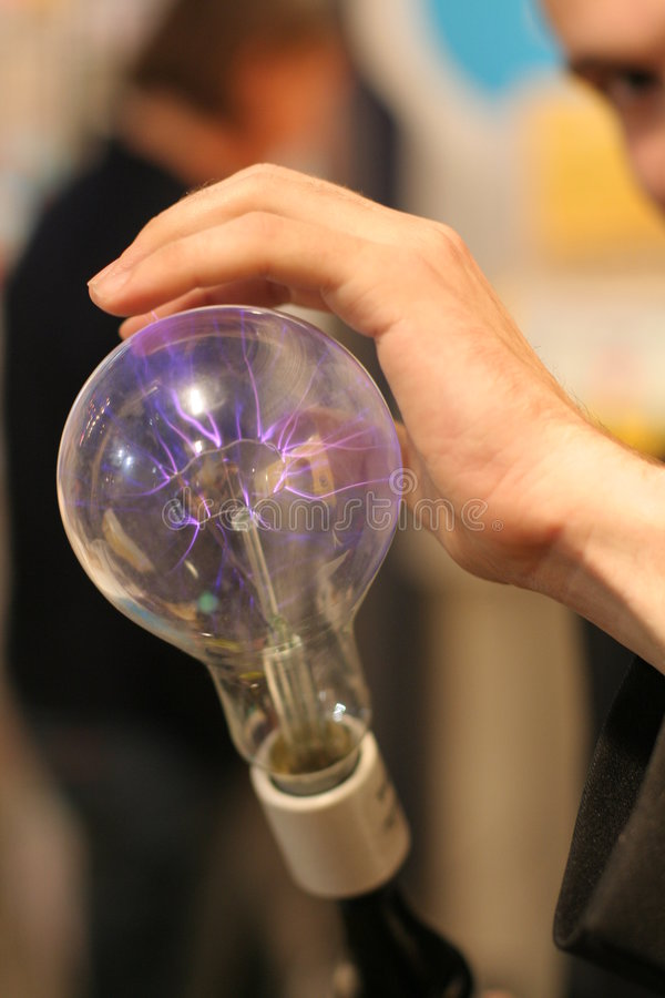 Tesla's light bulb royalty free stock image
