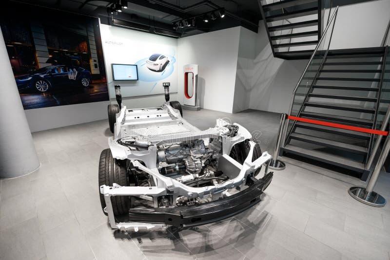 Teslamachinewerkplaats in Frankfurt royalty-vrije stock afbeeldingen