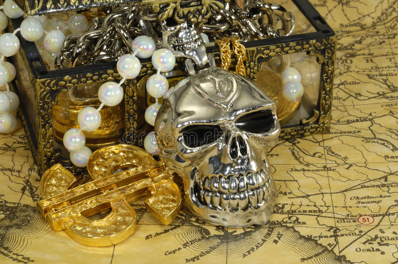 Tesoro del pirata foto de archivo