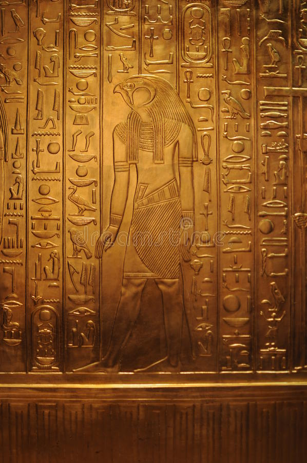 Tesoro di Tutanchamon immagine stock