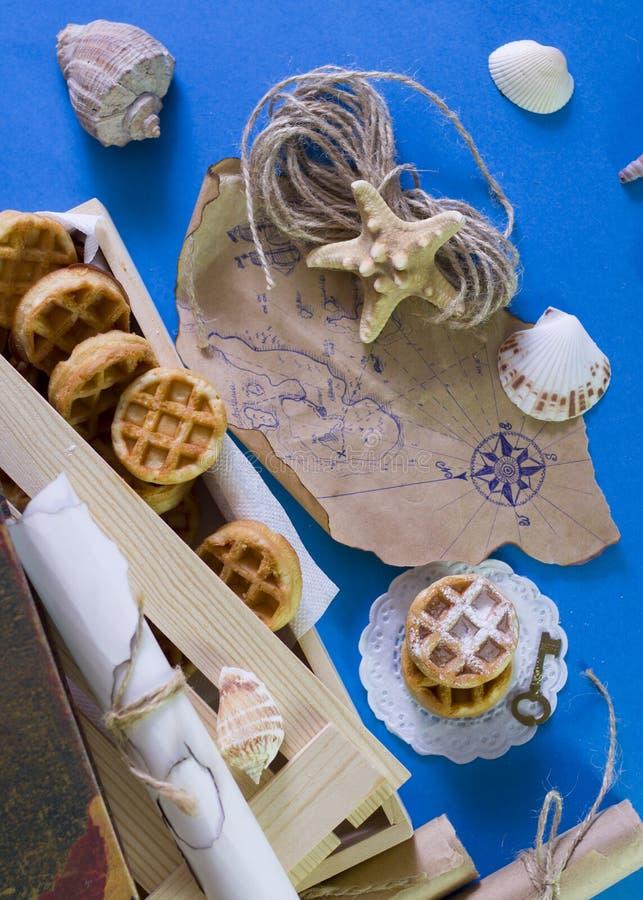 Tesoros de la galleta de piratas foto de archivo libre de regalías