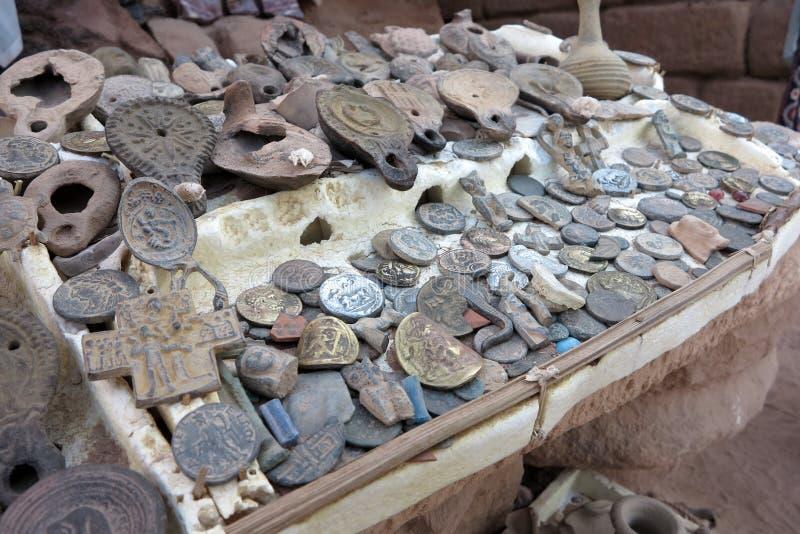 Tesoros ocultados del Petra fotografía de archivo libre de regalías