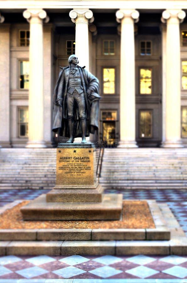 Tesouraria dos E.U. no Washington DC imagem de stock