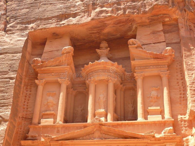 Tesouraria, Siq, PETRA, Jordão fotos de stock royalty free