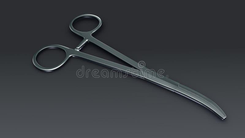 Tesouras cirúrgicas ilustração stock