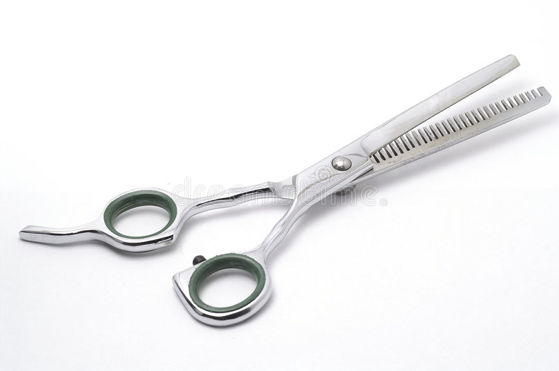 Tesouras do cabelo fotografia de stock