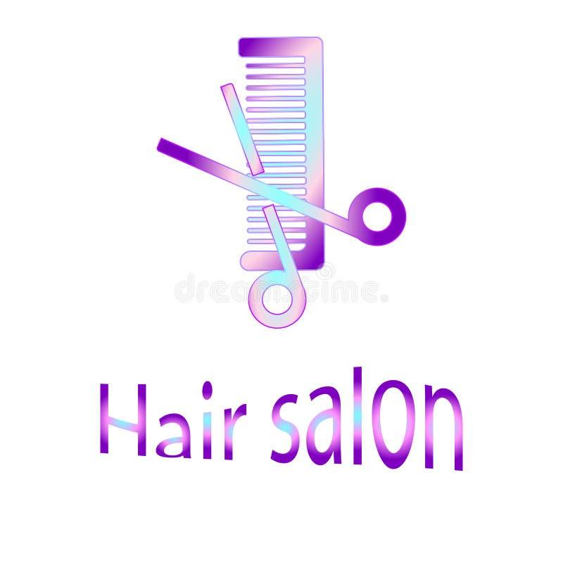 Tesouras e vetor EPS10 do pente do cabelo ilustração do vetor