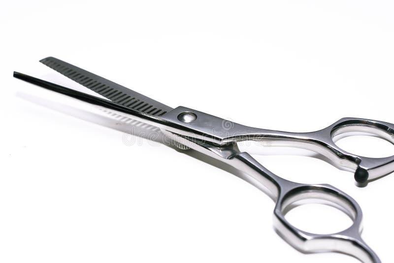 Tesouras especiais para o trabalho do cabeleireiro imagens de stock