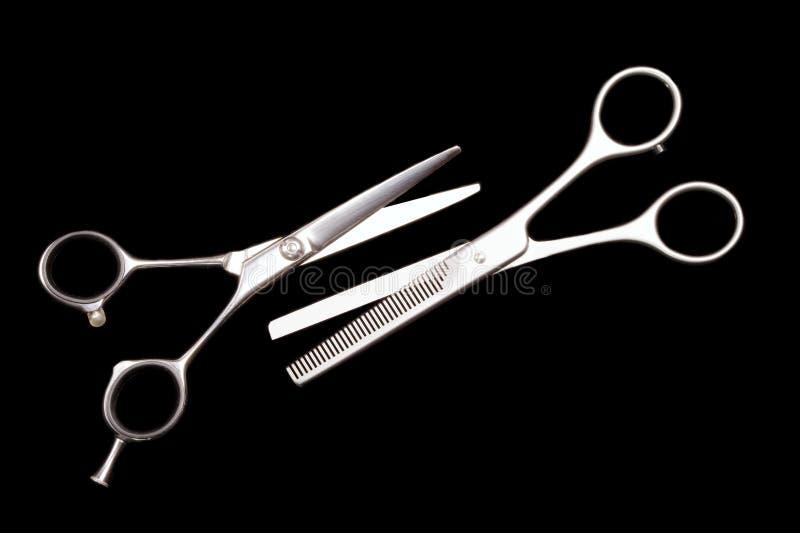 Tesouras especiais para o trabalho do cabeleireiro fotografia de stock royalty free