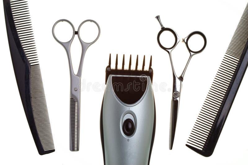 Tesouras especiais para o trabalho do cabeleireiro fotos de stock