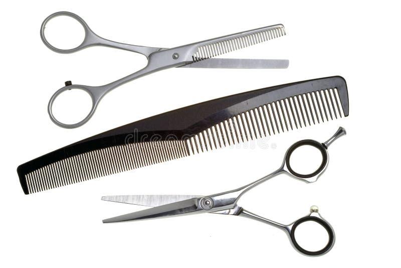 Tesouras especiais para o trabalho do cabeleireiro, para o cabelo fotos de stock royalty free