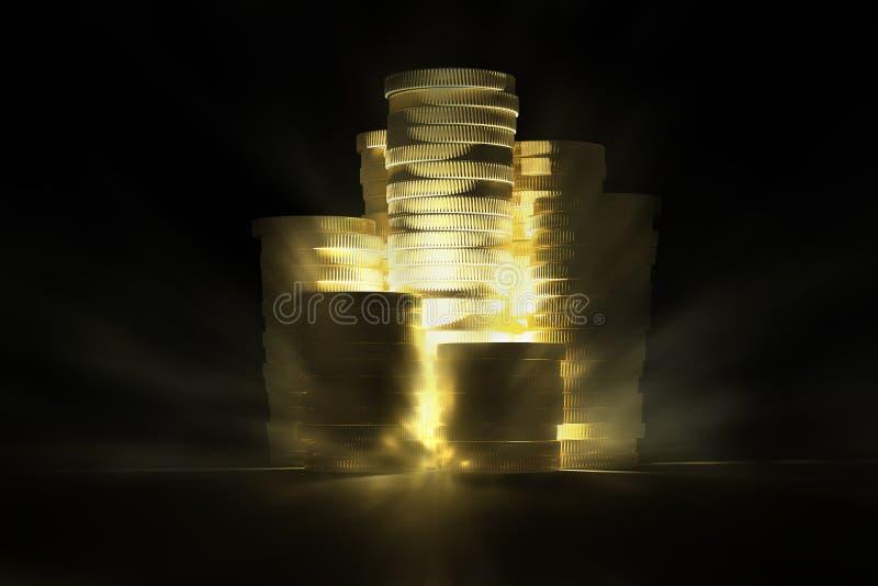 Tesouro de brilho do ouro imagens de stock