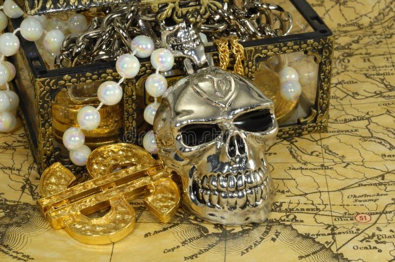 Tesouro do pirata foto de stock