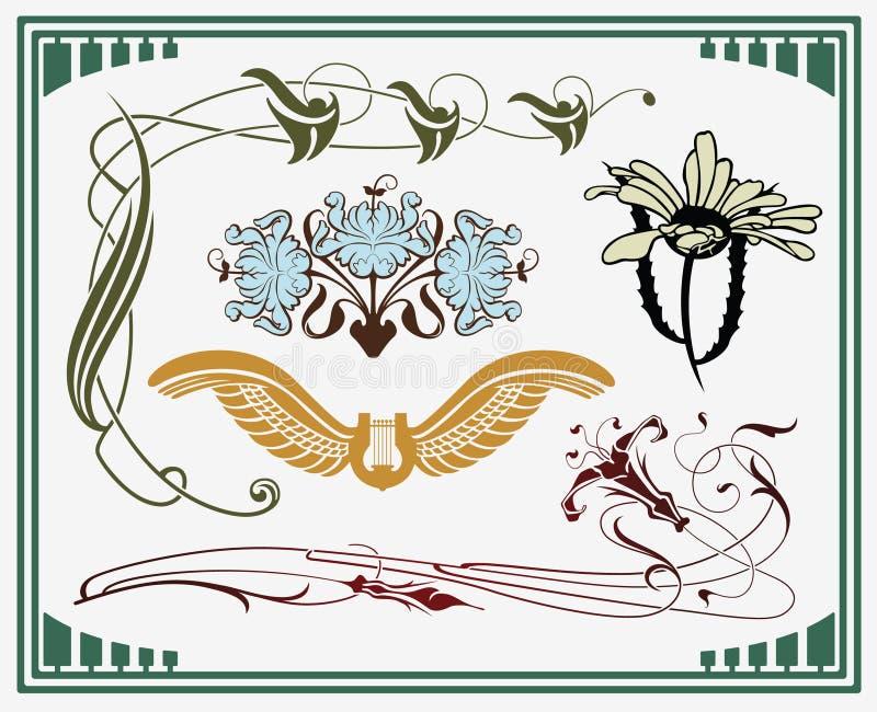 Tesouros da arte-nouveau ilustração do vetor
