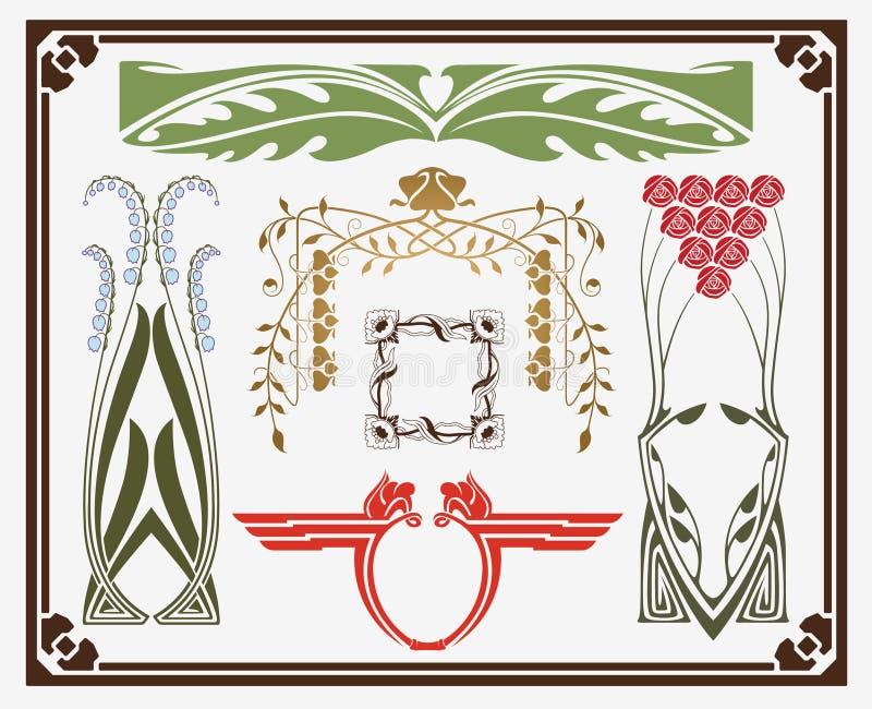 Tesouros da arte-nouveau ilustração royalty free