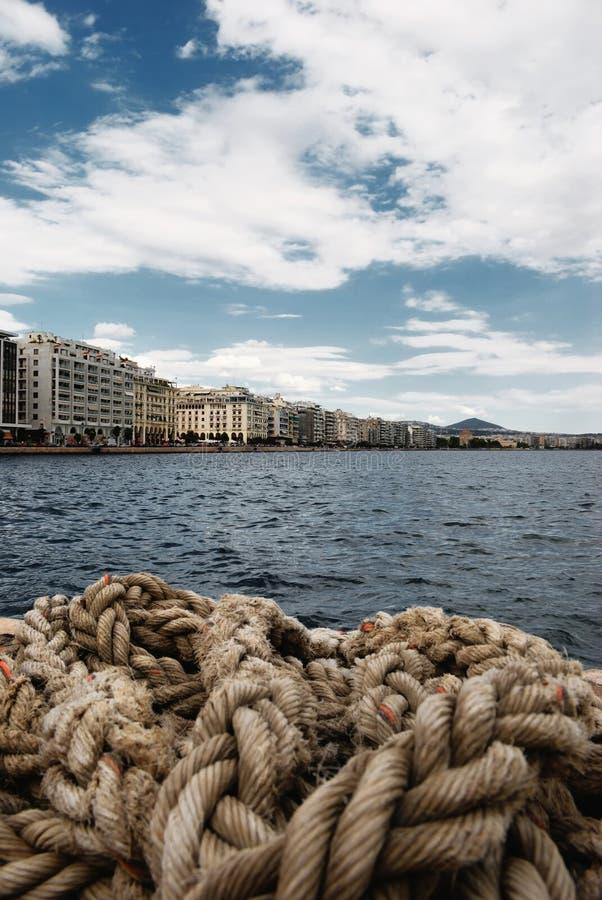 Tessalónica ao longo do mar foto de stock royalty free