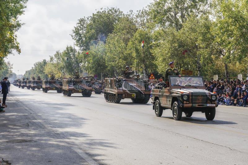 Tessalónica, Grécia parada grega do exército do dia de Oxi do 28 de outubro fotos de stock royalty free
