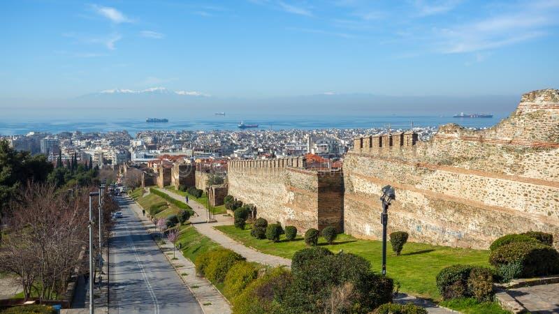 10 03 2018 Tessalónica, Grécia - vista panorâmica de Tessalónica imagem de stock
