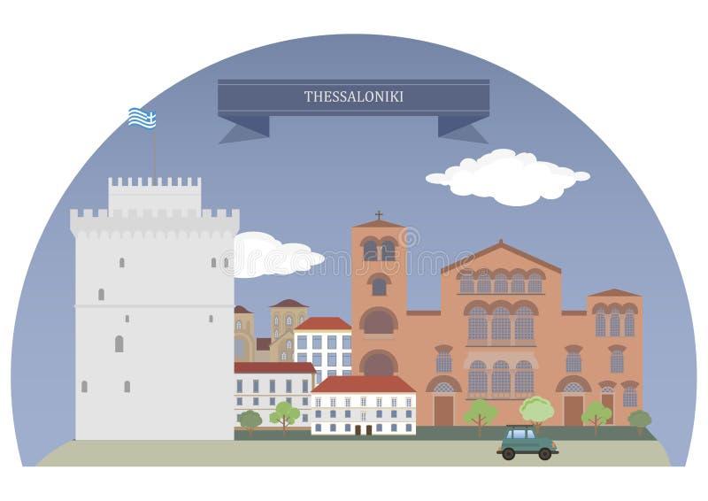 Tessalónica, greece ilustração royalty free