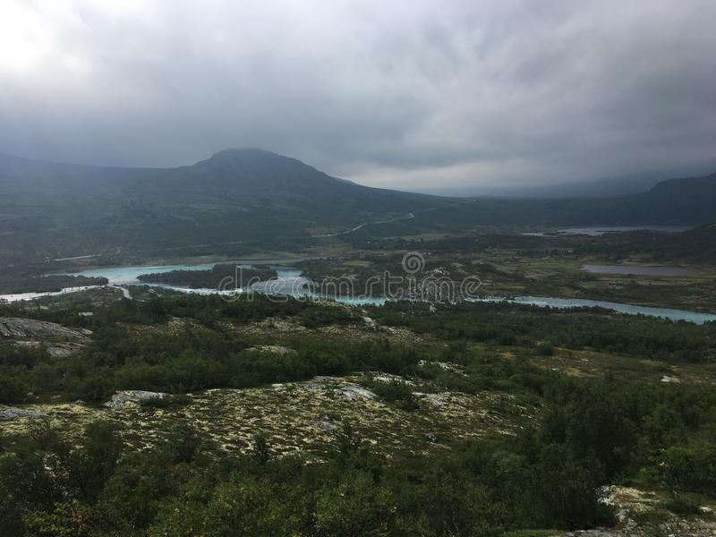 Tessanden mountain in Norway - Jotunheimen royalty free stock image