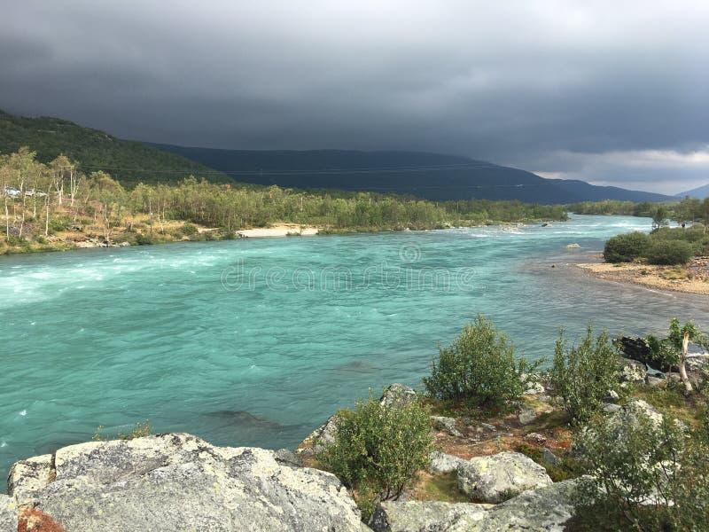 Tessanden mountain in Norway - Jotunheimen. Mountain river in at tessanden Norway, Jotunheimen stock images