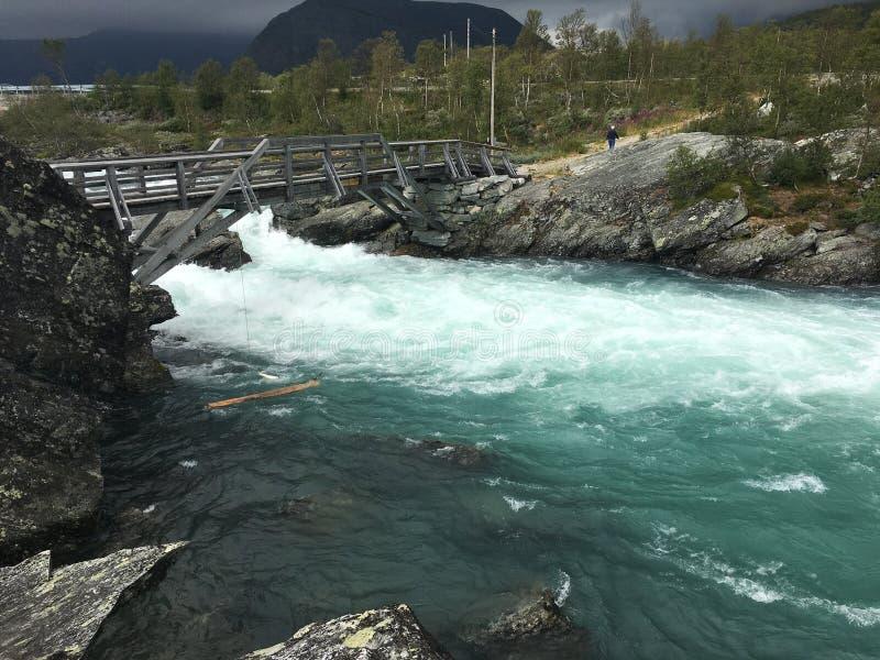 Tessanden mountain in Norway - Jotunheimen. Mountain river in at tessanden Norway, Jotunheimen royalty free stock image