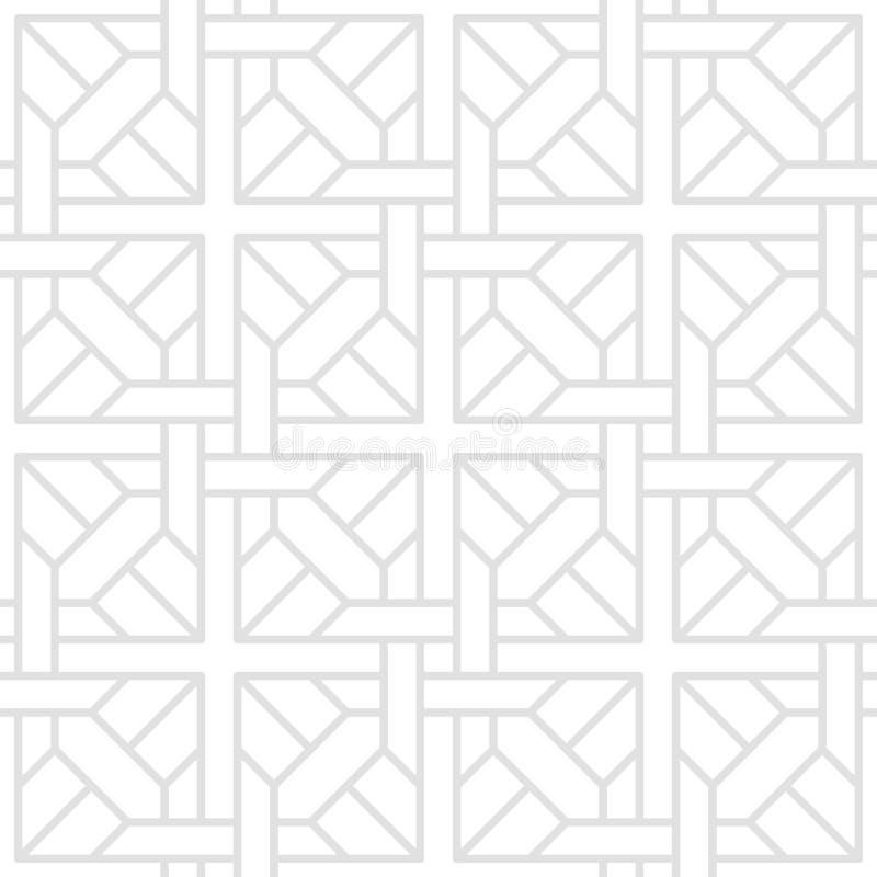 Tesselate o teste padrão de Gray Geometric Shapes em um fundo branco ilustração do vetor