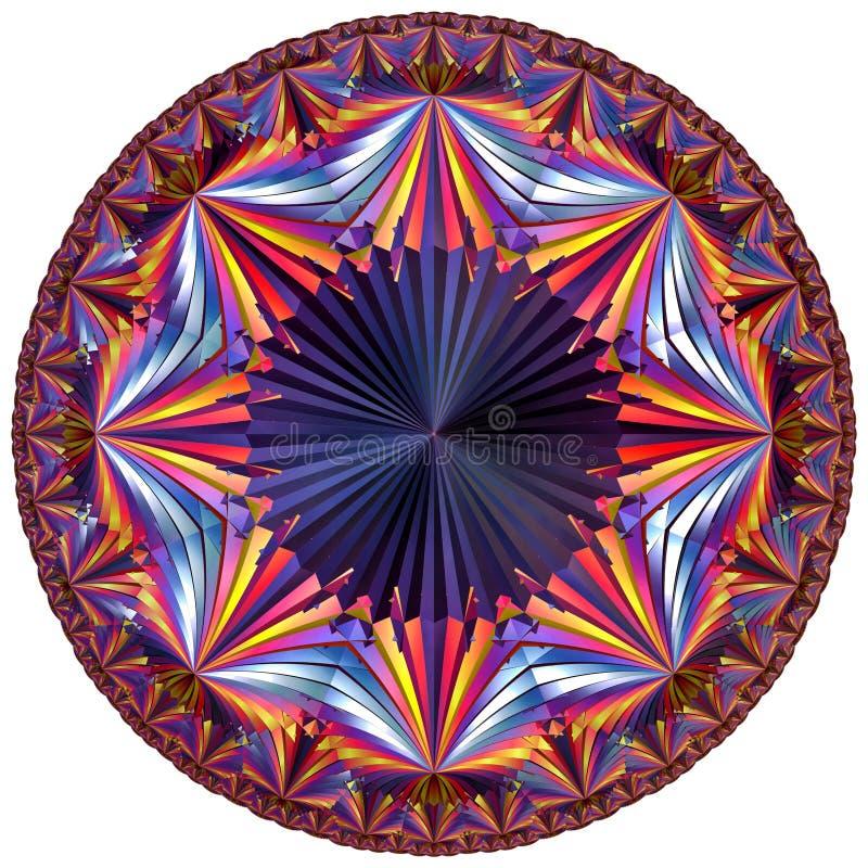 Tesselation hyperbolique coloré illustration de vecteur