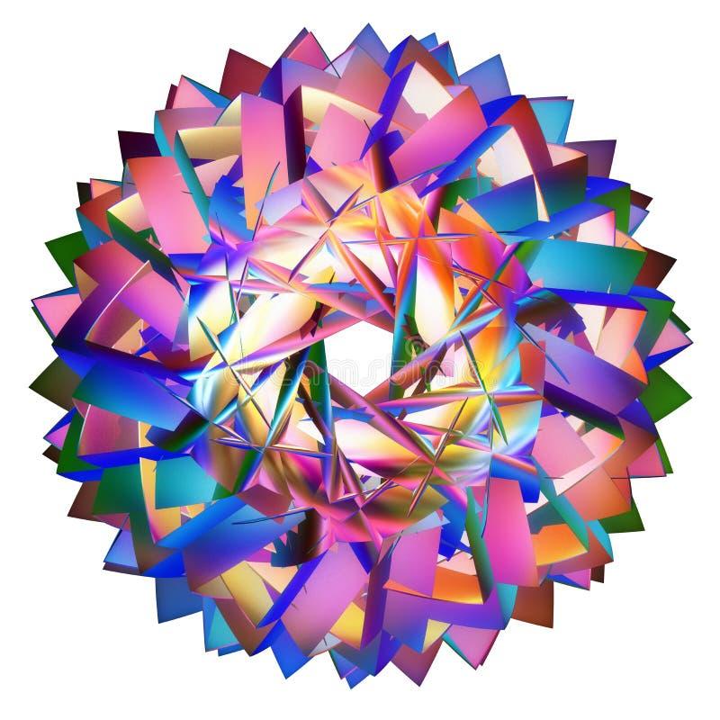 Tessellation hyperbolique coloré illustration stock