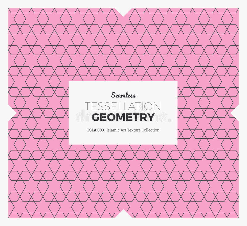 Tessellationgeometrimodell stock illustrationer