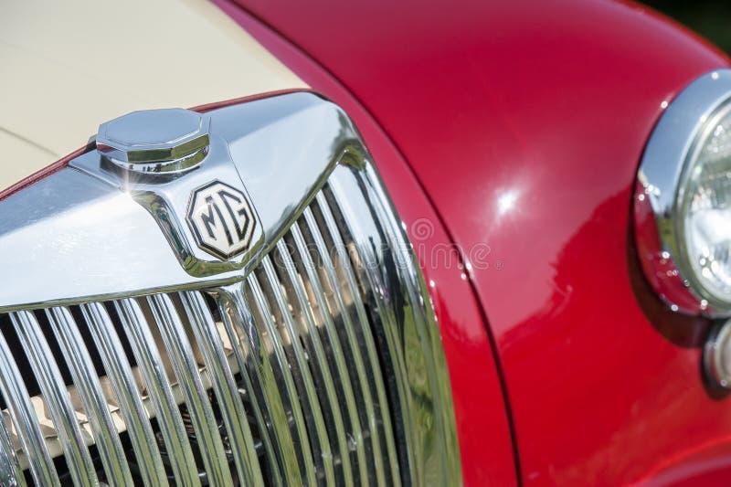 Tessera di guida per auto sportive MG fotografia stock libera da diritti